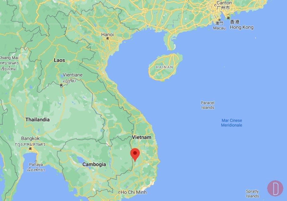 Krong Na, distretto di Buon Don Map