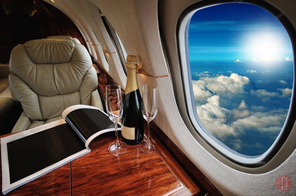Luxury charter flight