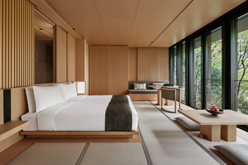 Aman Kyoto,- Pavilion bedroom