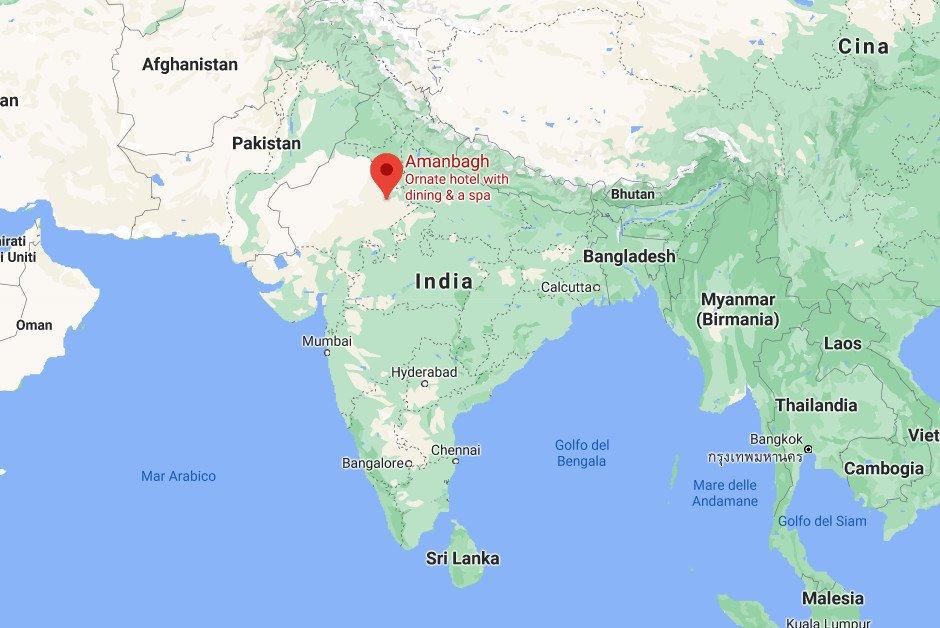 Amanbagh map