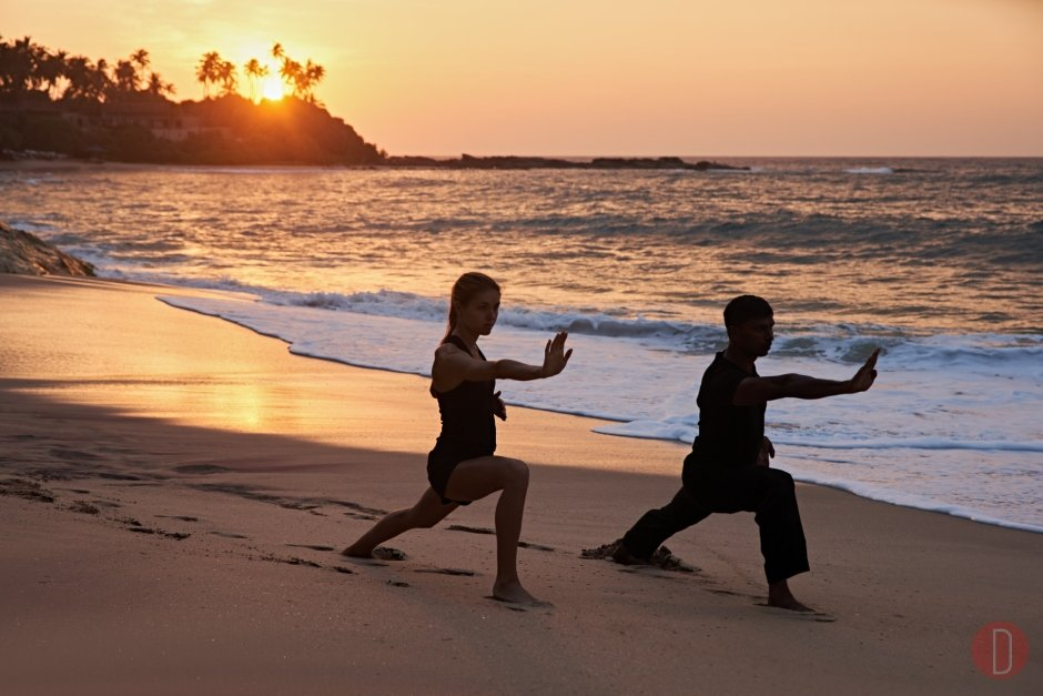 Amanwella, Sri Lanka - Wellness, Thai Chi on beach